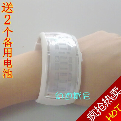 童话二分之一同款 ODM终极三国siman手镯表果冻表学生LED手表腕表图片